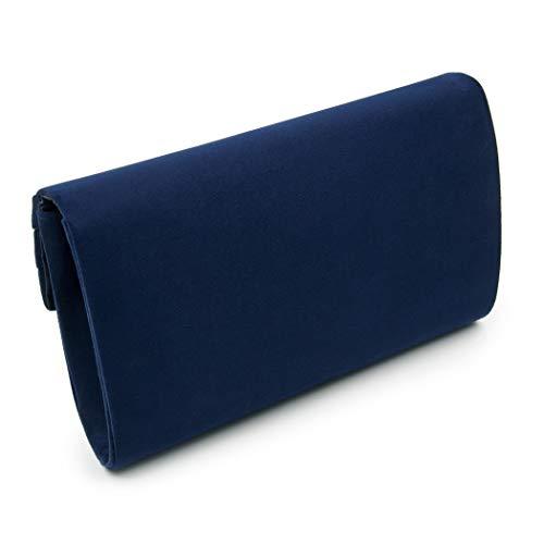 Blue Wallet Navy Wedding for Womens Flannel Handbag Clutch Bag Party Flada Cocktail Evening Purse C6qOnw