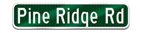 Make Your Own Personalized Custom Single Sided Street Name Sign - Made to look like the Real Thing! - 3M's Engineer Grade Sheeting. Traffic Quality .063 Aluminum with Rounded Corners (Green)