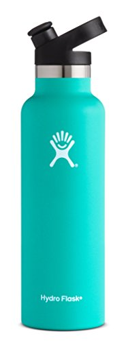 Hydro Flask 21 oz Water Bottle | Stainless Steel & Vacuum Insulated | Standard Mouth with Sport Cap | Mint ()