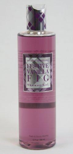 Festive Vanilla Fig - Bath & Body Works Holiday Traditions Festive Vanilla Fig Shower Gel 12 fl oz (355 ml)