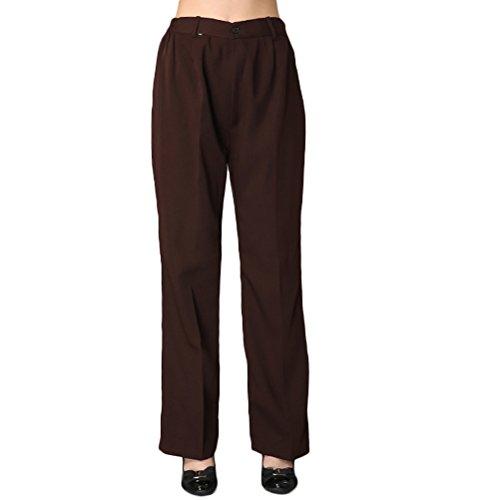 Nanxson TM Women Hotel/Kitchen Uniform Elastic Waist Chef Pants Working Cargo Pants CFW2003 (L, Coffee) by Nanxson
