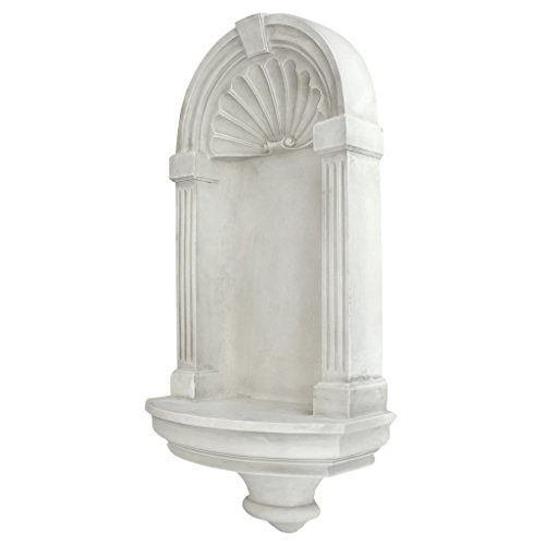 Style Design European - Design Toscano Classical European Style Wall Niche Display Shelf, Large, 30 Inch, Polyresin, Antique Stone