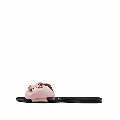 Sandales Pantoufles 36 Arc Pur Couleur Femmes Une Toe Été Ouvert DHG Chaussures Plates FzwRw