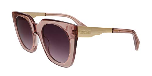 Just Cavalli JC753S 72Z Transparent Pink Square Sunglasses for Womens