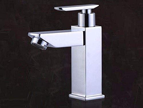 DGF-FF Beakjiful現代360度スイベルバスルームタップソリッドブラス温水と冷水の蛇口シングルハンドル流域ミキサーの蛇口