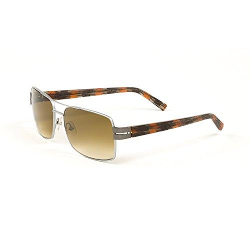 be297356715 J.F. Rey Full Rim Aviator Sunglasses 58.5mm Silver Orange Black