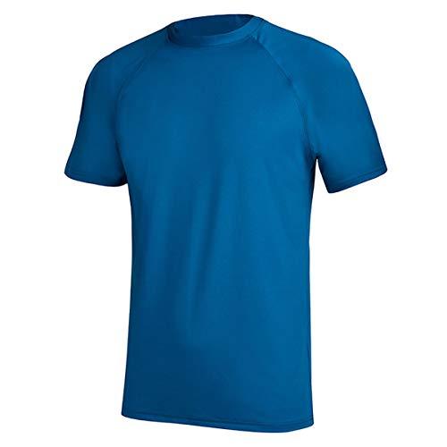 Mens UPF 50 Rashguard Swim Tee Short Sleeve Sun Shirt Swimwear Swim Shirts