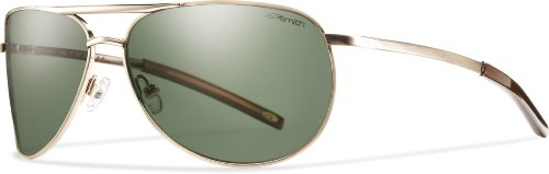 Smith Optics Serpico Slim Sunglass, Gold / Gray Green Polarized - Sunglasses Slim For Face