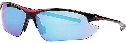 Rawlings R7RV Red/Black/Ice Blue Adult Baseball/Softball Sunglasses - Baseball Rawlings Sunglasses