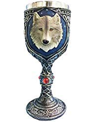 Game of Thrones Collections Resin Craft 7oz Wine Chalice Stainless Steel Wolf Wine Goblet