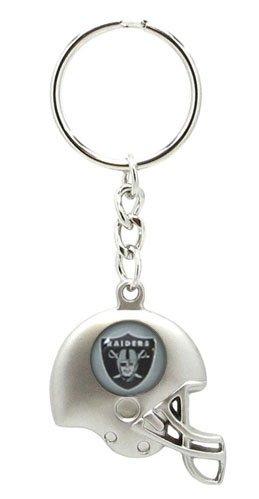 Oakland Raiders - NFL Silver Helmet Keychain by aminco