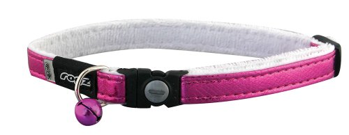 Rogz Catz Glam Cat Safeloc Breakaway Clip Adjustable Cat Collar, Small .375-Inches, Purple Design