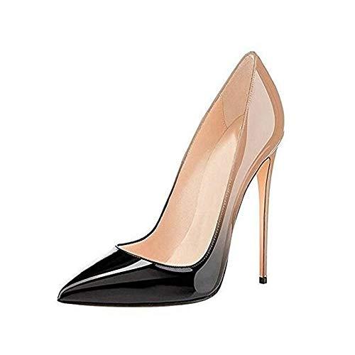 À Talons Pointu 12Cm Sexy Talons Chaussures De Chaussures Chaussures Hauts Nus Femme LIANGHUA À Chaussures Femme Escarpins Chaussures Bout Noir Femme À Party Stiletto C7wqqf1