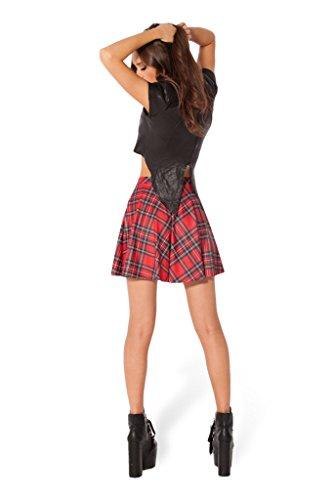 Beau Courte en Belle Jupe pour Femme Carreau Rouge Imprime JTC Polyester Motif q6w8Ew