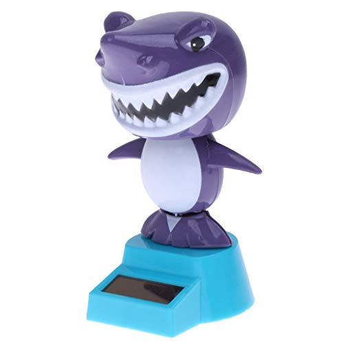 Kinue Solar Nodding Dolls Dancing Toy Solar Bobble Head Shaking Doll- Shark