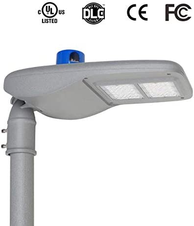 Gebosun 80W LED Parking Lot Lights – Dusk to Dawn 8600 Lm Outdoor Street Light with Photocell Shoebox Pole Flood Light 6000K for Outdoor Commercial Area Security Lighting Fixture