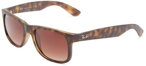 Ray-Ban JUSTIN - RUBBER LIGHT HAVANA Frame BROWN GRADIENT Lenses 51mm - Ray Rubber Ban Havana