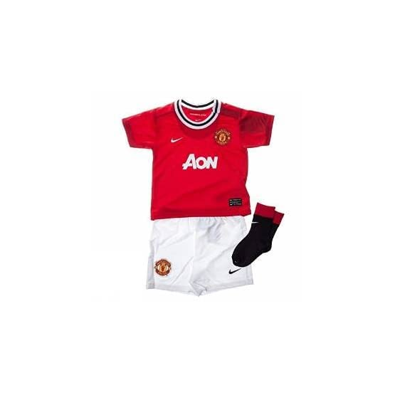 Nike Manchester United Home Football Rouge/Blanc en kit Complet 2011-12423973623Rouge Rouge/Blanc 9-12Months (UE 76-80cm).