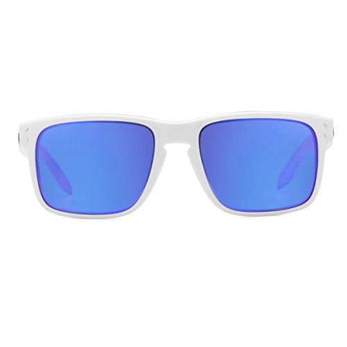 Oakley Mens Holbrook Iridium SunglassesMatte White FrameViolet Lensone size