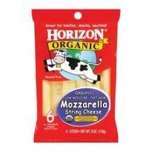 Mozzarella String (Horizon Organic Mozzarella String Cheese, 6 Ounce -- 12 per case. )