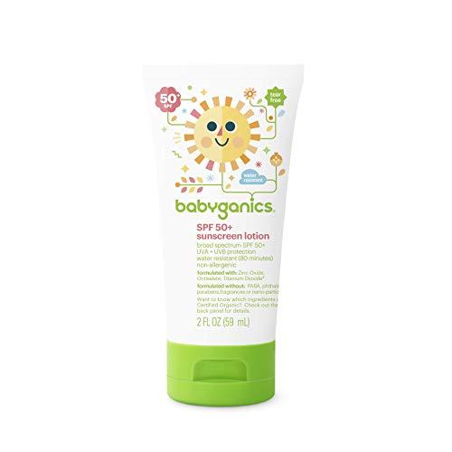 Babyganics SPF 50 Baby Sunscreen Lotion, 2 (Best Babyganics Sunscreen For Kids)