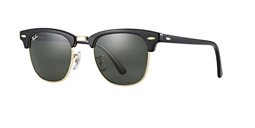 Ray 110371 RB3016 Clubmaster 110371 on Sunglasses Purple 51 Black 51 RB3016 Ban Black C5Cc0yFrq