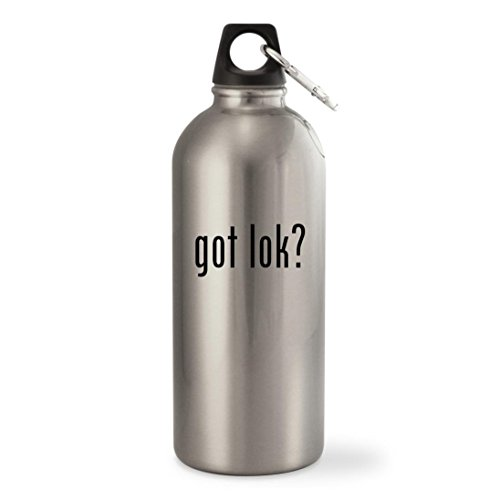 Got Lok    Silver 20Oz Stainless Steel Small Mouth Water Bottle