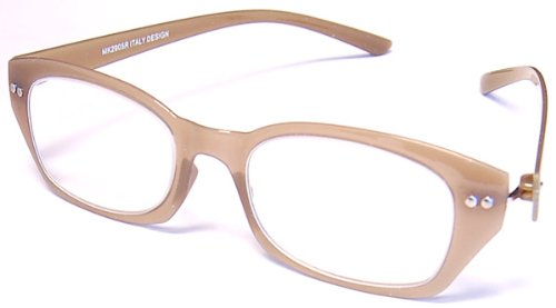 Flex Specs Clouds Bendable Reading Glasses - Incredible Colors, 2.00, Olive Green