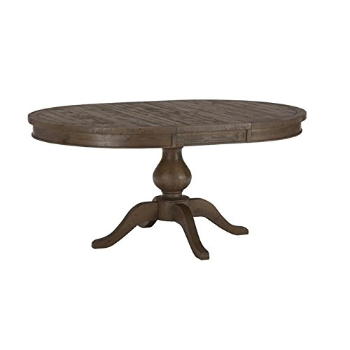 Jofran Slater Mill Pine Oval Dining Table (Oval Dining Table Pedestal Base)