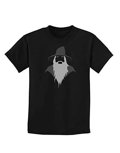 TOOLOUD Grey Wizard Childrens Dark T-Shirt - Black - XL