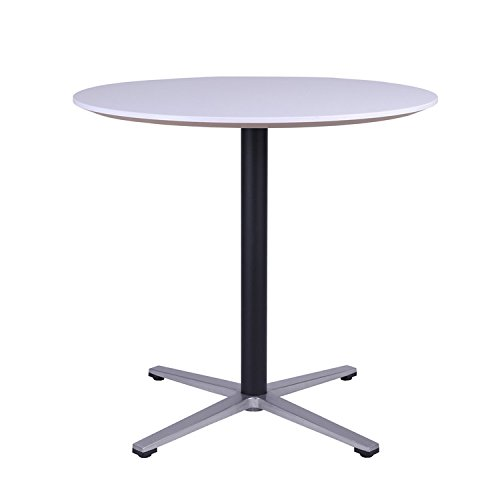 Sunon 31.5-Inch Small Round X-style Pedestal Pub Bistro Table(Moon White,29.5-Inch Height)