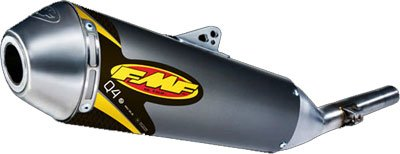 FMF Racing Q4 Spark Arrestor Slip-On - Stainless Midpipe , Material: Aluminum -