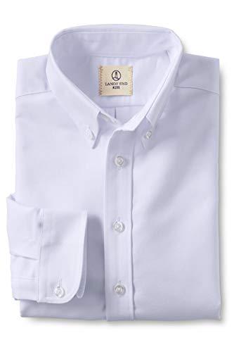Lands' End School Uniform Boys Long Sleeve Oxford Dress Shirt White