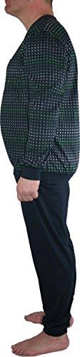 Ammann Schlafanzug / Pyjama Langarm 9738 16 marine gemustert