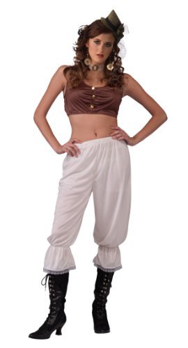 Forum Novelties Steampunk Pantaloons, White, One Size( Fits Up To Size 14-16)