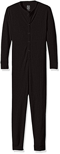Fruit of the Loom Big Boys' Union Suit, Black Soot, L (10/12)