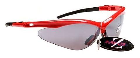 Rayzor Professional Lightweight Red UV400 Sports Wrap Archery Sunglasses, Wit... (Light Wit Stand)