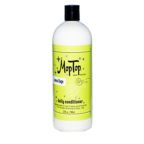 MopTop Salon Daily Conditioner for Dry, Thick, Wavy, Curly & Kinky-Coily, Color Treated & Natural Hair, made w/Aloe & Honey reduces Frizz, increases Moisture & Manageability for Smooth & Silky Hair.