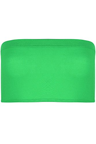 BE Jealous donna elasticizzato BOOBTUBE senza spalline a fascia con spalline giubbotto aderente reggiseno top corto IT 8-14 - verde giada, M/L (UK 12/14)