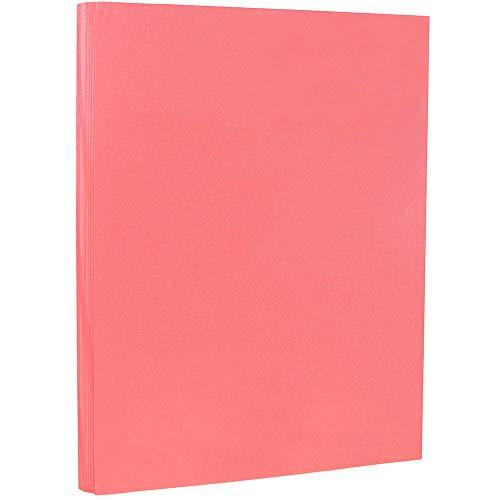 JAM PAPER Vellum Bristol 67lb Cardstock - 8.5 x 11 Letter Coverstock - Cherry - 50 Sheets/Pack