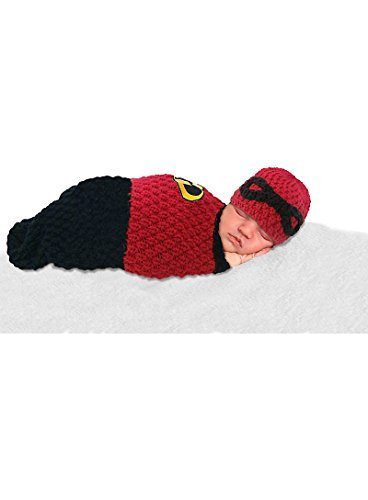 DisneyBaby Newborn Baby Photo Prop, The Incredibles 2 Piece Photo Prop Set for Your Incredible Baby (Cocoon and Hat)]()