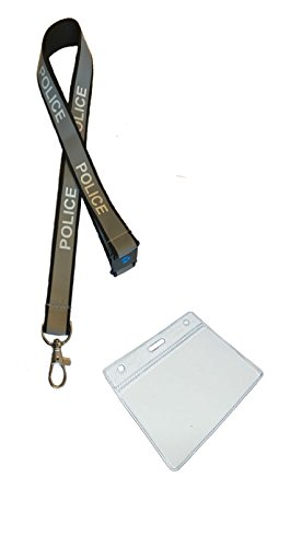 (Police Hi Visibility Reflective Lanyard with Safety Breakaway & Plastic ID Pocket)