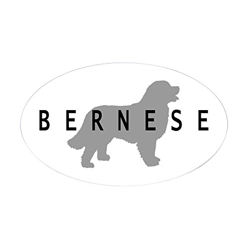 - CafePress Bernese Dog Oval Sticker Oval Bumper Sticker, Euro Oval Car Decal