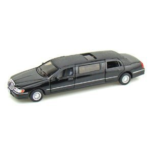 kinsmart-1-38-scale-diecast-1999-lincoln-town-car-stretch-limousine-in-color-black