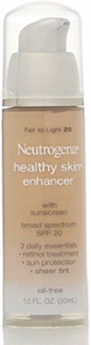 Neutrogena Healthy Skin Enhancer Tinted Moisturizer, Fair to Light [20], 1 oz (Pack of 3)