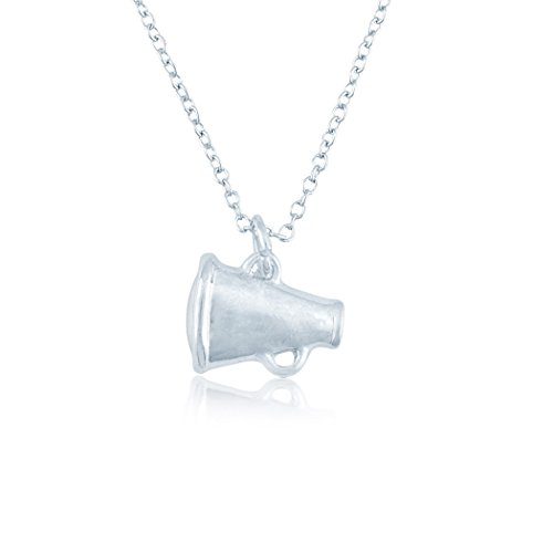 ChalkTalkSPORTS Silver Cheer Megaphone Cheerleading Necklace