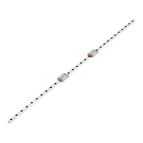 Lineare Führungsschiene,600mm Linear Guide Rail LML9B Lineare Schiene Linearführung Gleitschiene 9mm Breite mit 2pcs Linearführungsblock,aus Lagerstahl