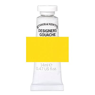Bulk Buy: Darice DIY Crafts Winsor & Newton Designer Gouache Cadmium Yellow Pale 14ml (3-Pack) WIN0605118