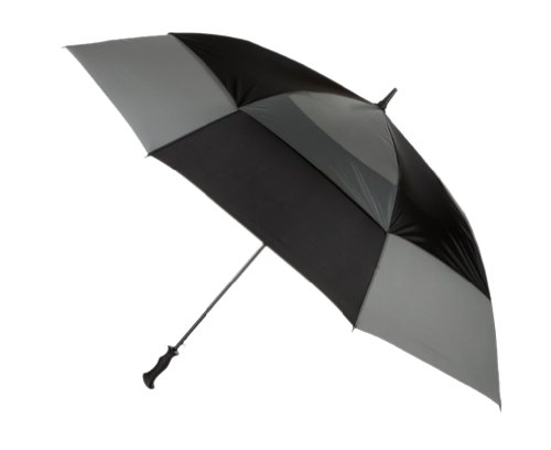 Totes Stormbeater Vented Auto Open Golf Umbrella (Black/Grey) by totes