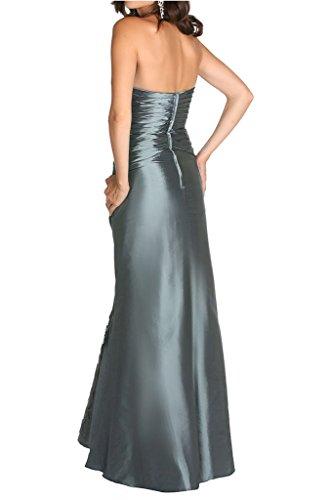 Bolero Damen A Hell Brautmutter Abendkleider Hell Grau linie mit Grau Elegant Charmant Ballkleider Taft ZwqdPZ8